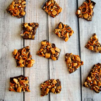 Caramel Toffee Chocolate Bark