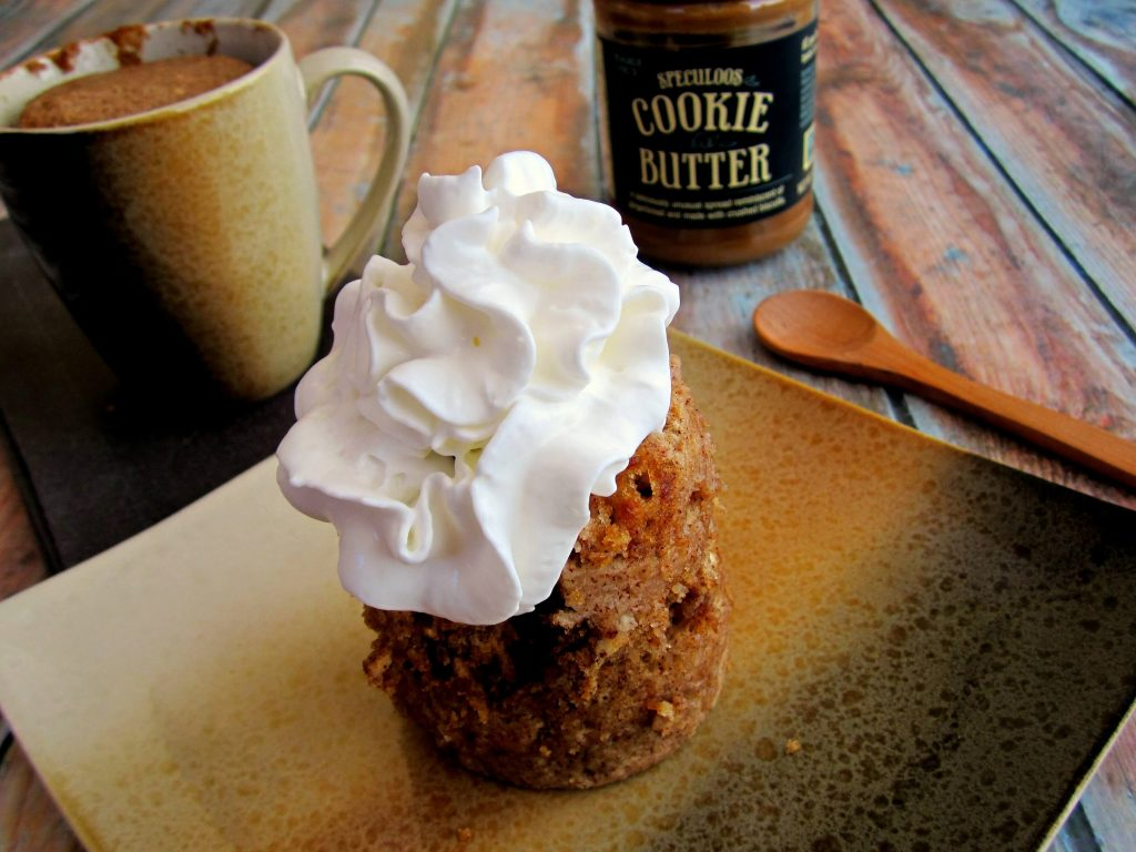 Cinnamon Cookie Butter Mug Cake