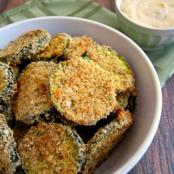 Zucchini Chips with Ranch Mayo Dip