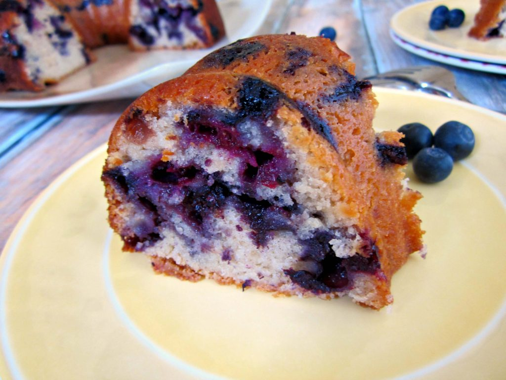 Fresh blueberries and creamy blueberry yogurt give this Blueberry Yogurt Cake a deliciously moist texture, full of blueberry flavor.
