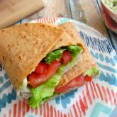 Turkey Provolone Wrap with Avocado Mayo