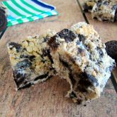 White Chocolate Oreo Rice Krispie Treats