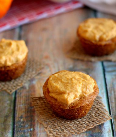 pumpkin cookie cups on a table