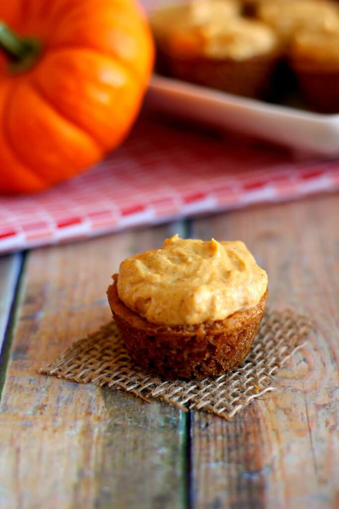 Bite-sized sugar cookies, filled with a fluffy pumpkin mixture and topped with whipped cream creates these tasty Whipped Pumpkin Cookie Cups.