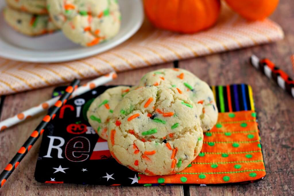oft fluffy and full of funfetti cake batter flavor these halloween funfetti cake