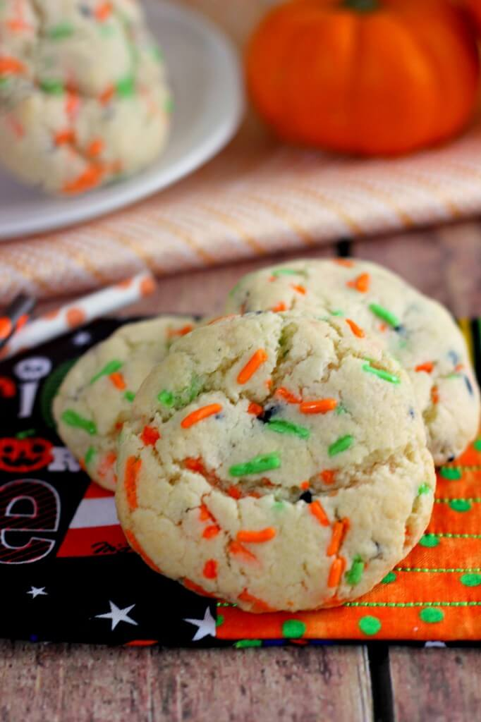 oft, fluffy, and full of funfetti cake batter flavor, these Halloween Funfetti Cake Mix Cookies will delight your senses and showcase your Halloween spirit.