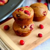 Cranberry Gingerbread Muffins