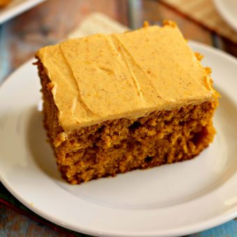 Pumpkin Spice Cake with Pumpkin Cream Cheese Frosting