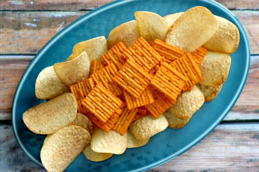 These Game Day Nachos are jam-packed full of flavor! The Pringles and Cheez-It Grooves are the perfect, salty bites for those hungry sports fans.