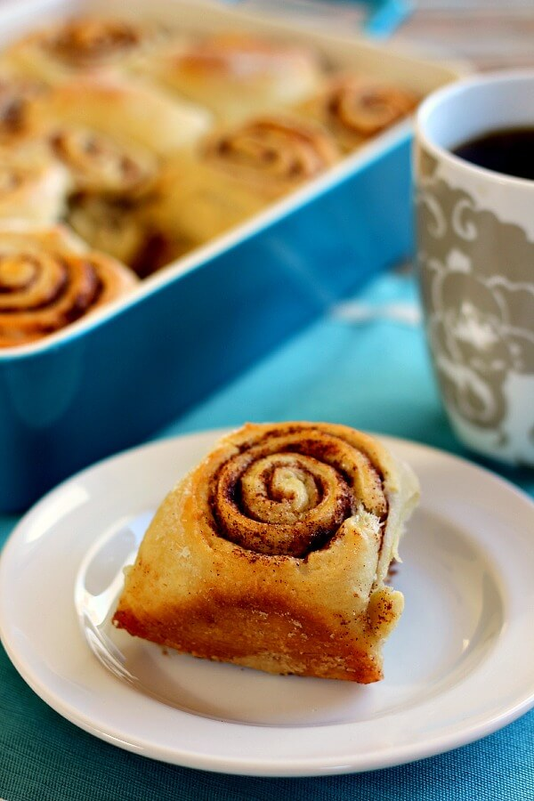 These Overnight Cinnamon Rolls are soft, fluffy, and bursting with just the right amount of cinnamon.