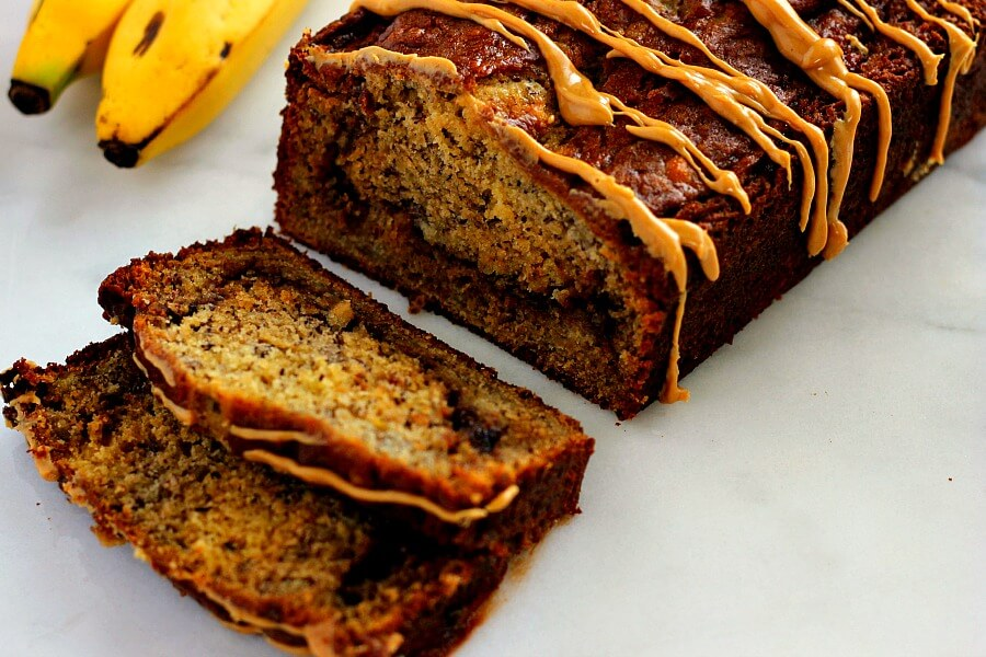 This Peanut Butter Cup Banana Bread is moist, full of flavor, and ...