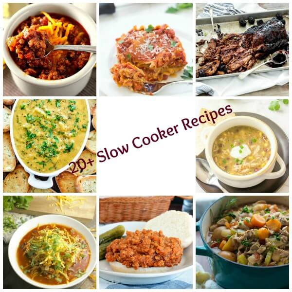 20+ Slow Cooker Recipes