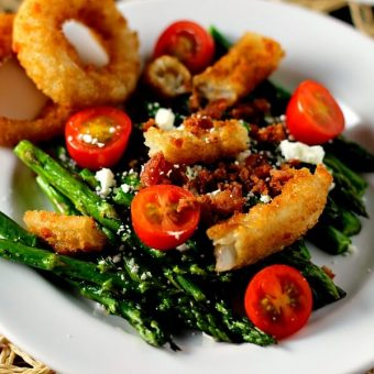 Asparagus Onion Ring Salad