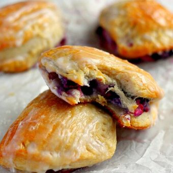Berry Cream Cheese Turnovers