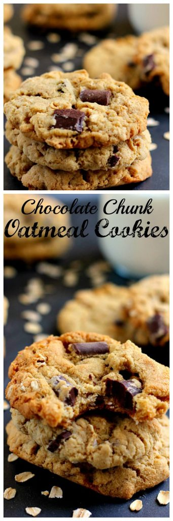 pin for chocolate chunk oatmeal cookies