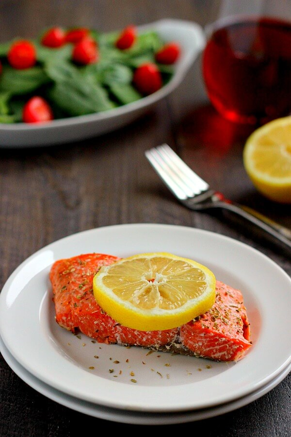 Light, flaky, and seasoned to perfection, this Lemon Garlic Salmon is ready in less than 20 minutes and serves as a healthy meal!
