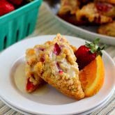 Mini Strawberry Orange Scones