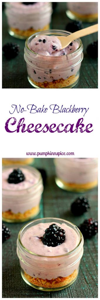 This No-Bake Blackberry Cheesecake is creamy, flavorful, and easy to whip up!