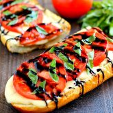 Toasted Caprese Garlic Bread