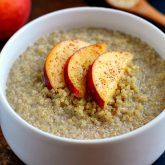 Peach Almond Breakfast Quinoa
