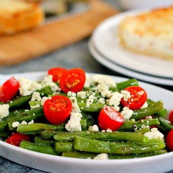Roasted Garlic Green Bean Salad