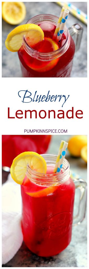 This Blueberry Lemonade is sweet, tangy, and made with fresh blueberries and ripe lemons. It's the perfect way to cool down on a hot summer day!