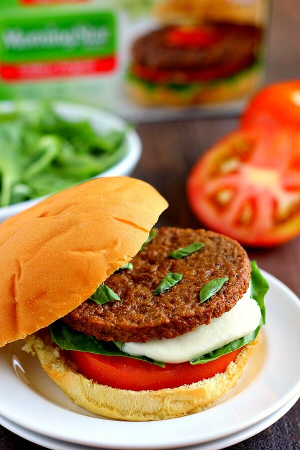 Caprese Veggie Burgers Pumpkin N Spice