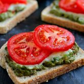 Cheesy Guacamole Toast