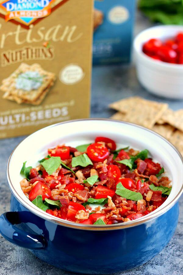 toppings of bacon, lettuce, and tomato, this Skinny BLT Ranch Dip ...