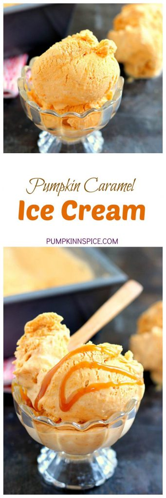 This Pumpkin Caramel Ice Cream is a no-churn recipe and is filled with a smooth pumpkin flavor. It's creamy, swirled with caramel, and so easy to make. If you like pumpkin, then this frozen treat was made for you!