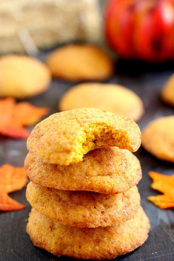 Soft, thick, and bursting with pumpkin pie spice and sugar, these Pumpkin-Doodle Cookies are full of pumpkin flavor. They're easy to make and the perfect fall treat to satisfy your pumpkin and cinnamon cravings! #pumpkinrecipe #pumpkincookies #pumpkindessert #pumpkinsnickerdoodle #snickerdoodlecookies #snickerdoodlerecipe #fallrecipe #falldessert #dessert #cookies