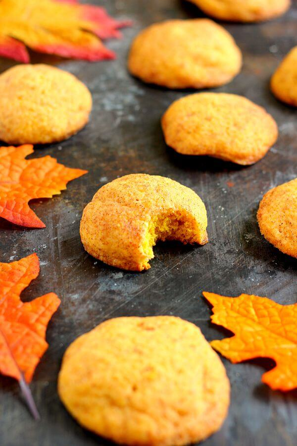 Soft, thick, and bursting with pumpkin pie spiceand sugar, these Pumpkin-Doodle Cookiesare full of pumpkin flavor. They're easy to make and the perfect fall treat to satisfy your pumpkin and cinnamon cravings! #pumpkinrecipe #pumpkincookies #pumpkindessert #pumpkinsnickerdoodle #snickerdoodlecookies #snickerdoodlerecipe #fallrecipe #falldessert #dessert #cookies
