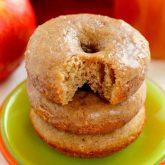 Cinnamon Vanilla Glazed Apple Cider Donuts