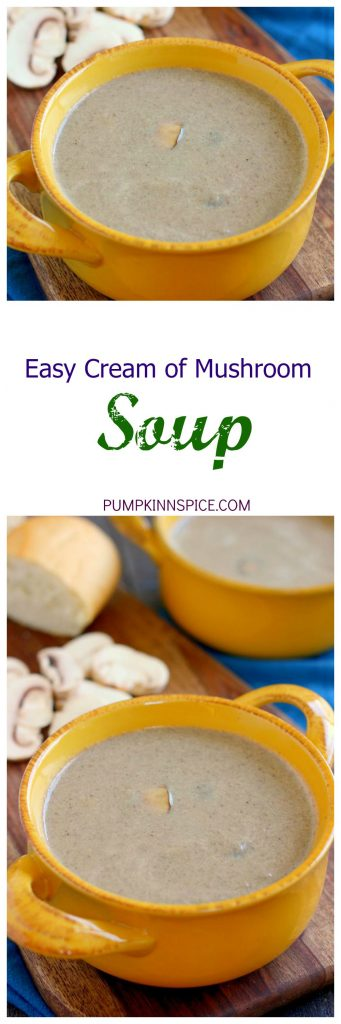 This Easy Cream of Mushroom Soup is packed with fresh mushrooms and bursting with flavor. It's thick, creamy, and healthier than the store-bought kind. Once you try this version, you'll be making it all season long!