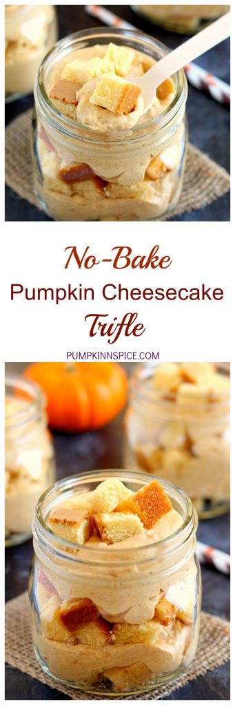 No-Bake Pumpkin Cheesecake Trifle is filled with a creamy cheesecake ...