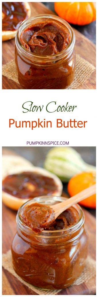 This Slow Cooker Pumpkin Butter combines the signature flavors of fall and is perfect to spread onto toast, bagels, and more. It's sweet, creamy, and so easy to make, that you'll never go back to the store-bought kind!
