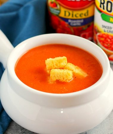 This Creamy Tomato Soup is filled with zesty tomatoes, seasoned with spices, and is ready in just 20 minutes. It makes the perfect, lighter soup for enjoying on chilly, fall nights. Once you try this version, you'll never go back to the canned kind!