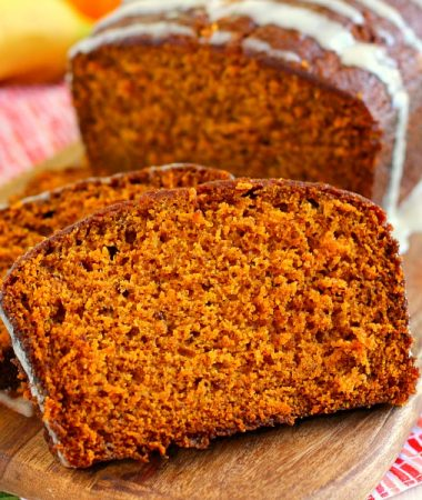 This Honey Glazed Pumpkin Banana Bread combines the classic fall flavor of pumpkin, swirled with hints of banana, and then topped with a sweet honey glaze. This bread soft, moist, and bursting with just the right amount of flavor. One bite and this is sure to be your new fall favorite!