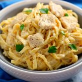 30 Minute Thursday: One Pan Chicken Fettuccine Alfredo