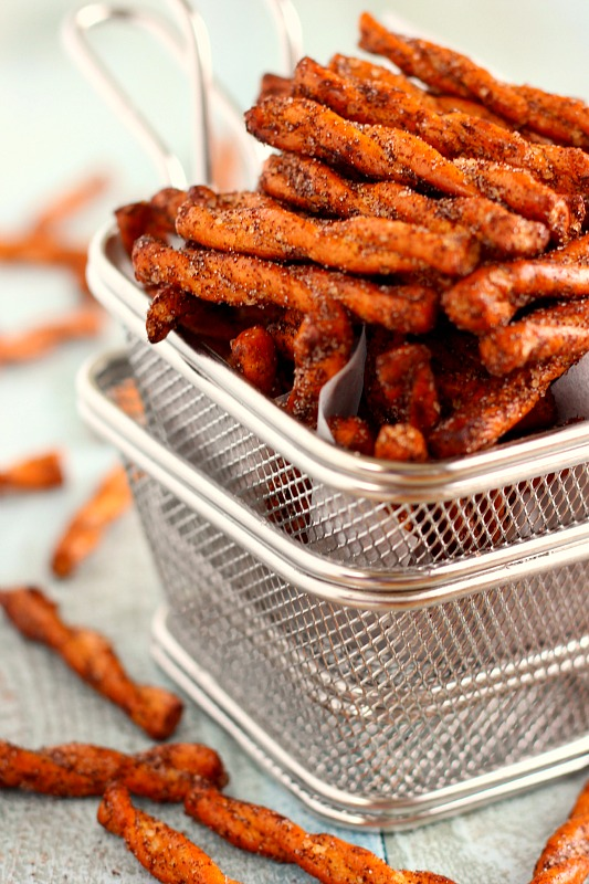 These Cinnamon Sugar Pretzels are sweet, salty, and full of flavor. With just four ingredients and hardly any prep work, you can have this tasty snack ready to be devoured in no time!