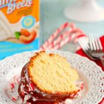 This Vanilla Pound Cake with Peppermint Glaze is moist, soft, and delicious. Flavored with vanilla and topped with a sweet peppermint glaze, this cake is sure to be holiday favorite!