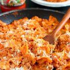 Creamy Bowtie Lasagna