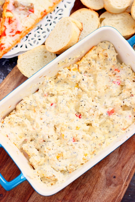 This Baked Feta Dip is the perfect appetizer for game days. Smooth, creamy, and bursting with flavor, this dip contains just a few simple ingredients and is ready in no time!