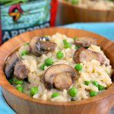 Creamy Parmesan, Mushroom and Pea Risotto Bowls