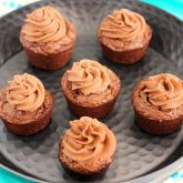 Brownie Bites with Nutella Frosting {Plus a Video!}