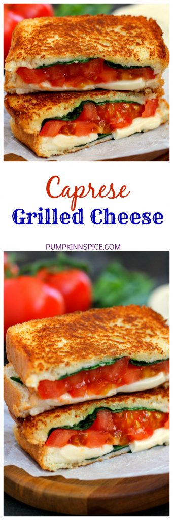 This Caprese Grilled Cheese is filled with fresh basil, creamy mozzarella cheese, and juicy tomatoes. It's a unique twist on a classic sandwich that is packed with flavor and easy to prepare!