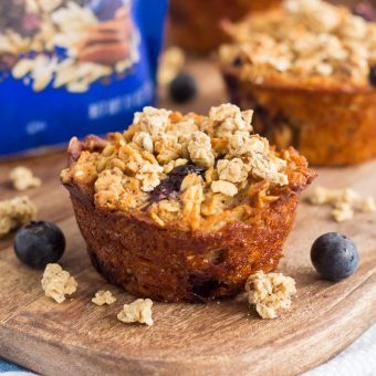 Blueberry Granola Oatmeal Muffins