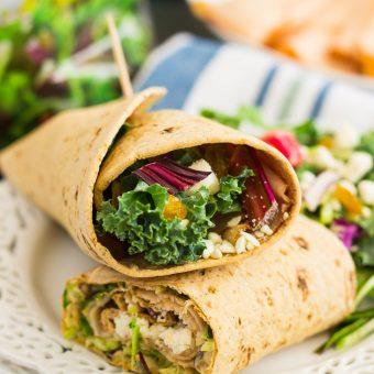 Chicken and Beet Hummus Wrap