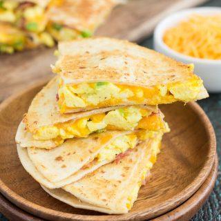 Easy Breakfast Quesadillas {Plus a Video!}
