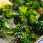 Roasted Garlic Parmesan Broccoli is an easy side dish that's bursting with flavor. Fresh broccoli is tossed with a mixture of garlic and Parmesan cheese, which results in a slightly crisp texture and seasoned to perfection. Prepped and cooked in one pan, you'll have this roasted vegetable ready in no time!